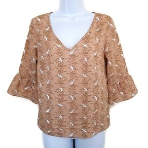 Pins and Needles Urban Outfitters Boho Doves Top